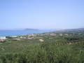 View east from the top of Hill 107, along the coast towards Chania