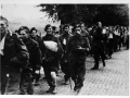Allied paratroops being marched away as prisoners