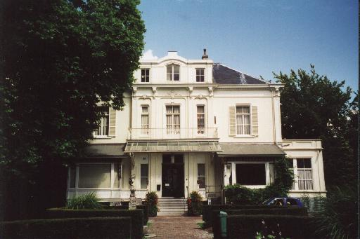 The Hartenstein, rear view, which looks down into the wooded area to the south