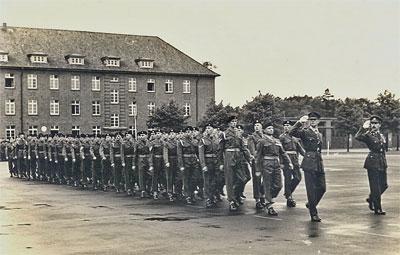 HQ Squadron, 7 Armd Div, Verden, November 1955, shortly before Hackett took over