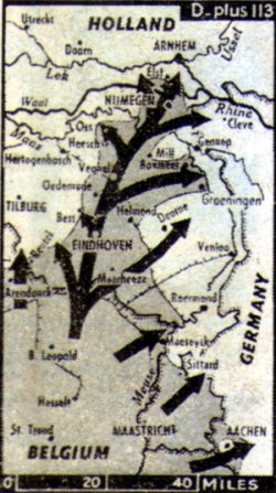 Allied forces thrust into Holland
