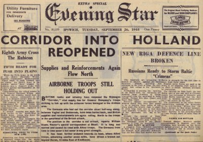 Ipswich Evening Star, September 26, 1944 - Corridor into Holland Reopened