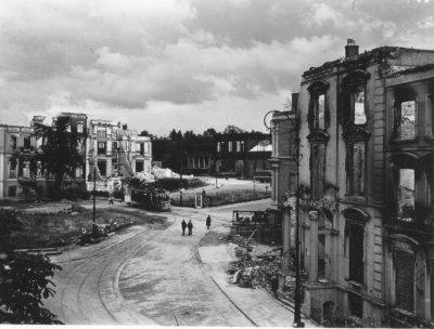 Taken in the centre of Arnhem, I believe Willemsplein Taken after September 1944.