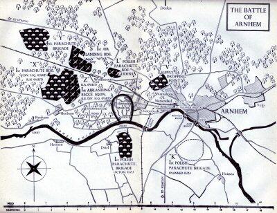 Battle of Arnhem map